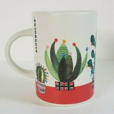 Starbucks 2017 Christmas Cactus Coffee Mug  12oz Holiday Decoration Cup Handle