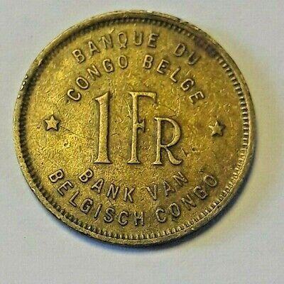 1 FRANC 1946 CONGO BELGE / BELGIUM / BELGISH - Eléphant KM# 26, LA# BCM-15