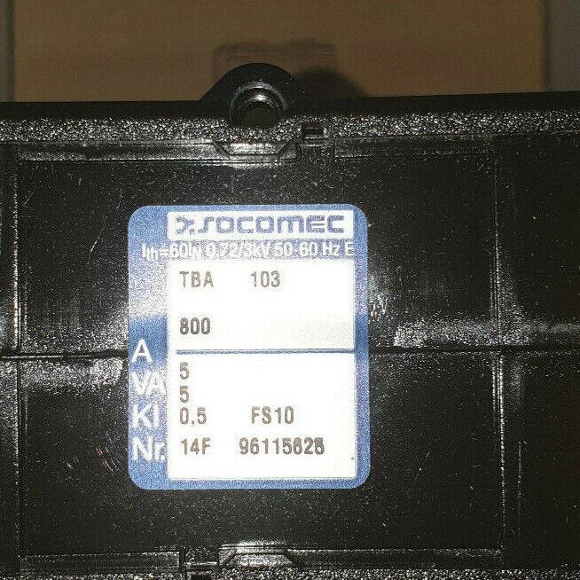 SOCOMEC 192T9380 TBA 103 800/5A 5VA - 123,00 €