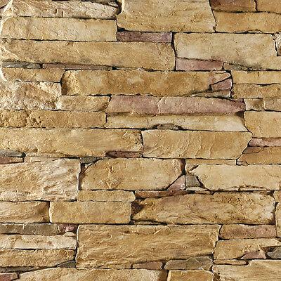 Wand Verblender Steinoptik, Wandverkleidung - Isola Gold  - 1 Musterstück