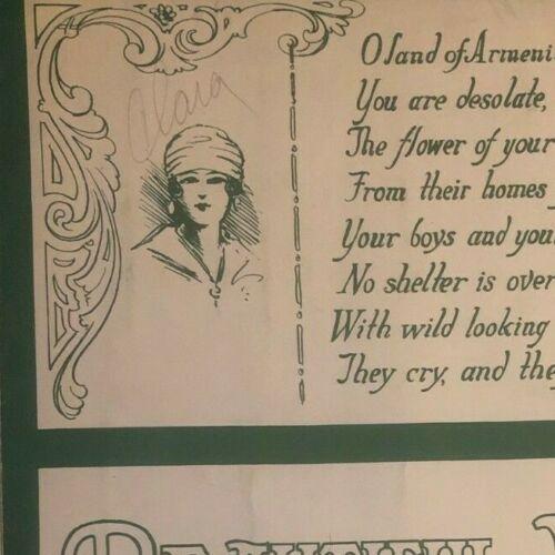 "Vintage WWI Sheet Music ""Beautiful Armenia"" Wm. J. Shallcross & Leone Driscol"