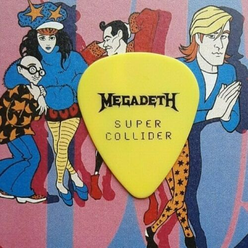 MEGADETH Dave Mustaine Super Collider Tour yellow guitar pick - NEW