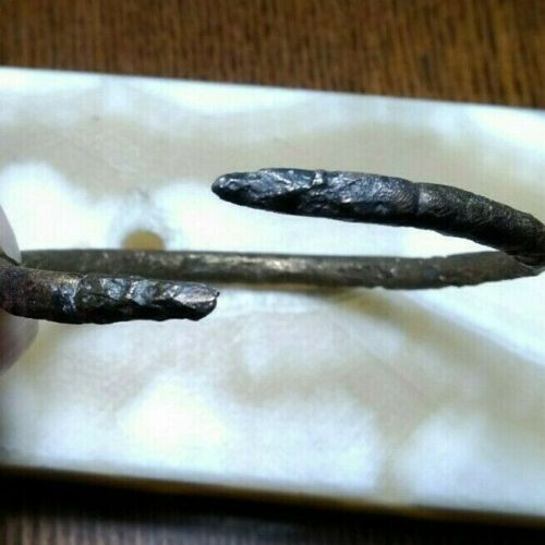 Ancient Viking bracelet with ornament (snake) 9-10th century
