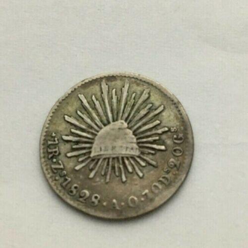 1828 MEXICO REALE ZS=TECAS COIN