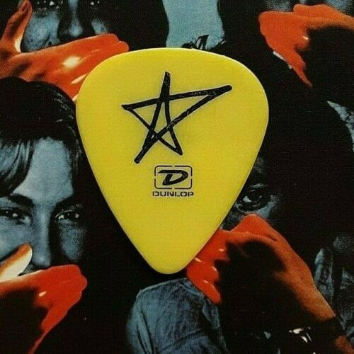 AVRIL LAVIGNE Charlie Moniz 2004 tour yellow  guitar pick