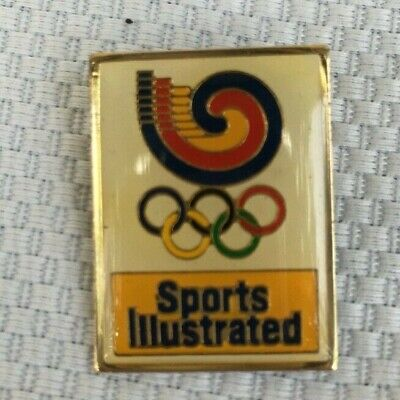 Vintage Sports Illustrated Olympics Sponsor Pin Advertisement Trade Collectible