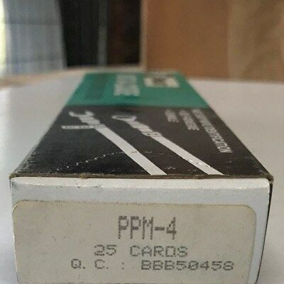 25 Pack Of Panduit Ppm-4 Insta-code Wire Marker Dispenser Cards 4 Free Us Ship