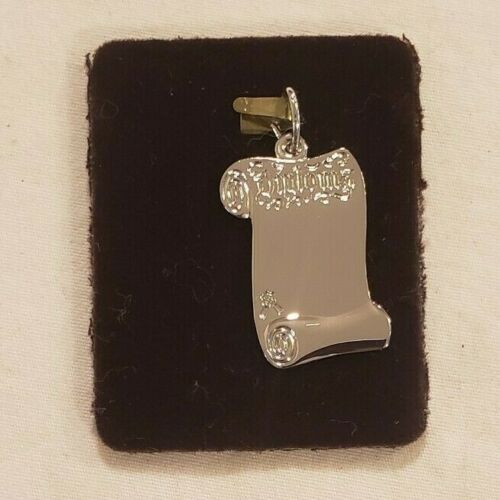 Rembrandt Open Diploma Charm New Sterling Silver Graduation School College