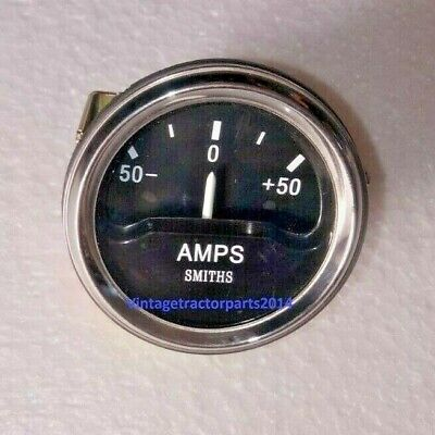 Smiths Ancillary Battery Charge Ammeter Gauge Chrome Rim 52mm 2