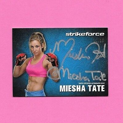 2013 Topps UFC Knockout @utograph Card Twitter Autograph MIESHA TATE 11/25