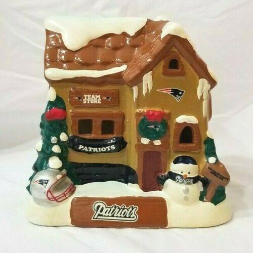 NFL New England Patriots Christmas Village Team Store Ceramic Winter Snowy House