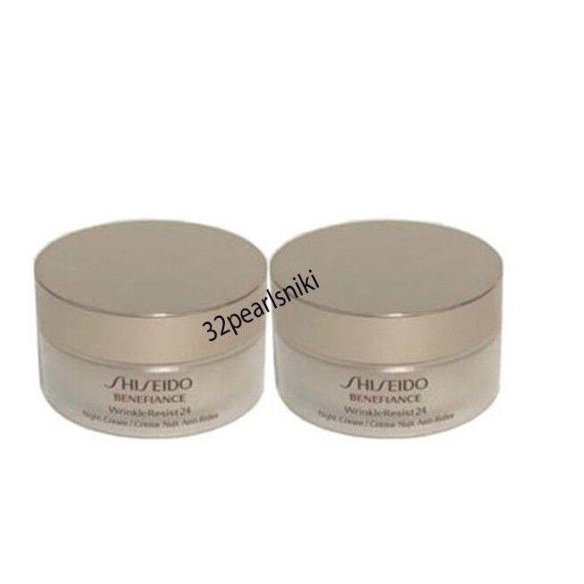 Lot Of TWO Shiseido Benefiance Wrinkle Resist 24 Night Cream
