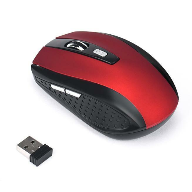USB Receiver Optical Mouse Cordless US 2.4GHz Wireless 2000DPI  for PC Laptop