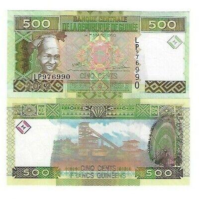 GUINEE 500 FRANCS UNC BANKNOTES