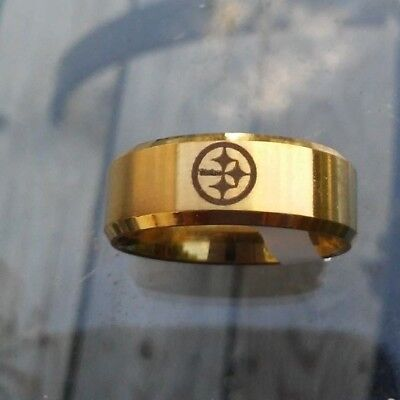 Pittsburgh Steelers Titanium Ring, several styles,  your choice