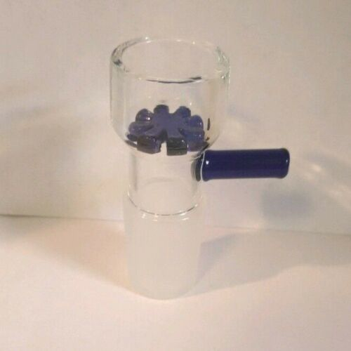 14MM GLASS BLUE BOWL WITH HANDLE/SCREEN BUY 2 GET 4 / BUY 3 GET 6 / BUY 5 GET 11