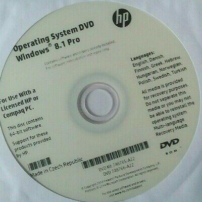 Genuine Windows 8.1 Hp Recovery Disc bnib, używany na sprzedaż  Wysyłka do Poland