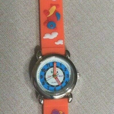 TIME 4 KIDS WATCH Orange Airplane Band Helps You Teach Your Child to Tell Time!](Blackbeard Band)