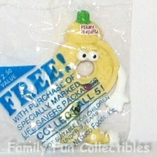 NABISCO~1992 Russ Berrie Bendy Figure~Life Savers~Perky Pineapple Mini Toy~MISP