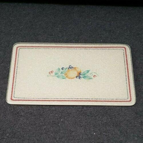 """Vintage Corning Counter Saver Cutting Board Abundance Rare 10"""" x 6"""" Size"""