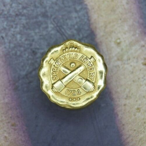 Antique WWI/WWII Original Springfield Armory Lapel Employee Service Pin 10k Gold