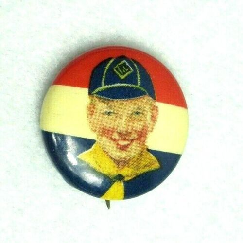 Vintage 1940s BOY SCOUTS OF AMERICA Celluloid Pin Back Button BSA Cub Scouts