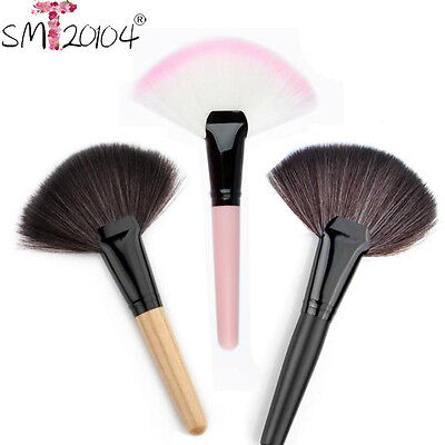 Pro Makeup Large Fan Nylon Hair Blush Face Powder Foundation Cosmetic Brush Hot