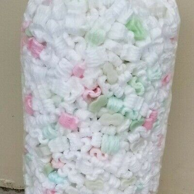 13.5 Gallons Of Unicorn Poo Used Popcorn Packing Peanuts Fast Free Shipping