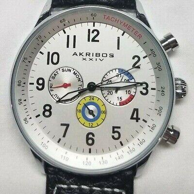 Akribos XXIV Multi Function Dial Men's Quartz Watch AK751SSW