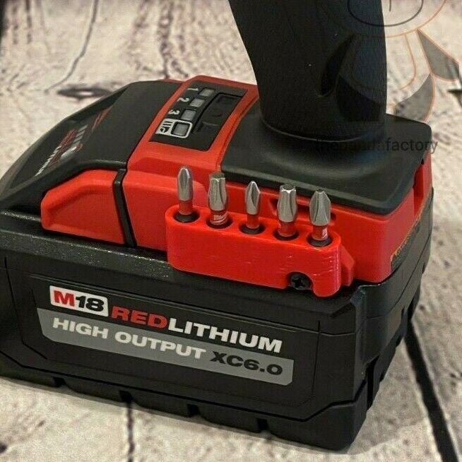 Magnetic Bit Holder 🧲 for Milwaukee M18 Tools (w/ Screw)
