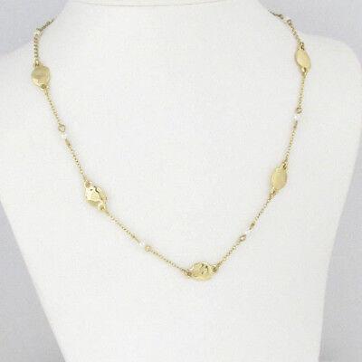 $48 Lauren Ralph Lauren Gold-Tone Tiny Imitation Pearl Hammered Disc Necklace