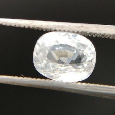 Natural White Zircon 3.60ct oval cut
