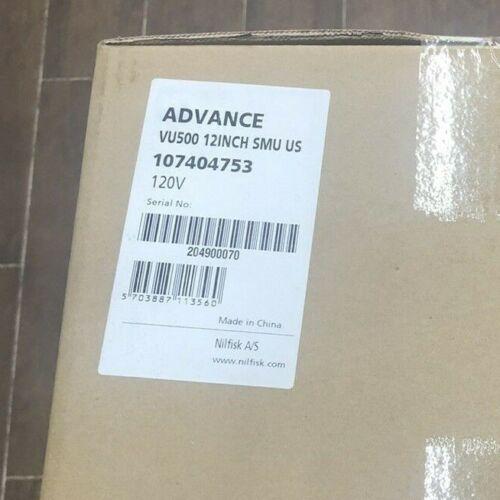 "Nilfisk Advance VU500 12"" Upright Vacuum Model Number 107404753, Grey"