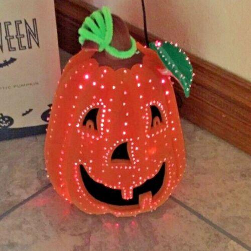 Avon Halloween Glowing Fiber Optic Color Changing Pumpkin Light Jack O Lantern