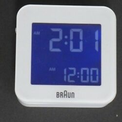 Braun BNC008WH-RC Digital Global Radio Controlled Travel Alarm Clock
