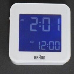 Braun BNC008WH-RC Digital Global Radio Controlled Travel Alarm Clock