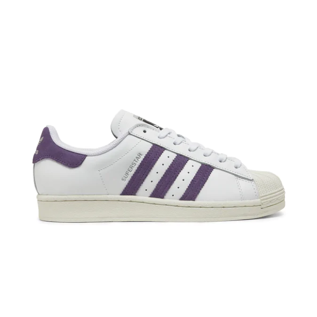 SCARPE ADIDAS ORIGINALS SUPERSTAR W DONNA fv3373 SNEAKERS BASSE BIANCO VIOLA