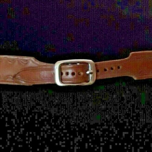 Hand tooled Leather western hat band