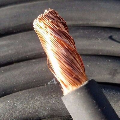 17 Foot 4 Awg Gauge Copper Power Wire Flexible Ground Lead Solar Cable Usa