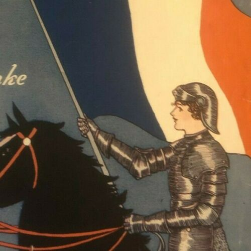 """Vintage WWI Sheet Music """"Liberty Waltz"""" Soldier on Black Horse - French Flag"""