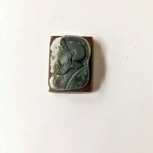 VINTAGE MANS CAMEO ROMAN SOLDIER RING TOP    MB/D-03