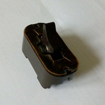 Vintage MK 4584 Brown Very Old Style 5 Amp 1 Way Grid Switch Used