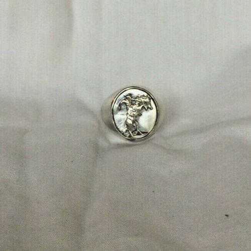 VTG Sterling Silver Gloria Vanderbilt RODEO ring size-8.25        321