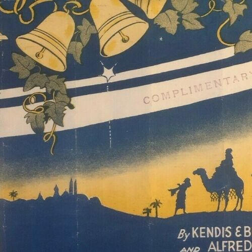 """Vintage WWI Sheet Music """"Palestine"""" Camels Bells Desert"""