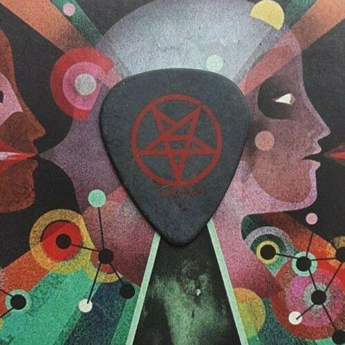 ANTHRAX Scott Ian red pentagram on black guitar pick