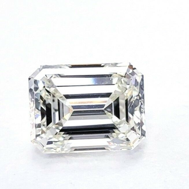 1.21 CT Natural Loose Diamond Emerald Cut J Color VS2 Clarity GIA Certified