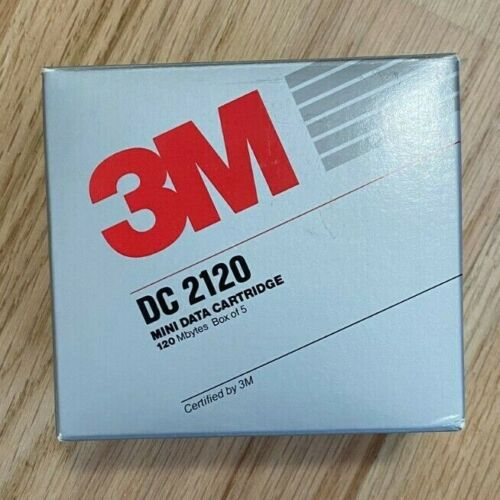 3M Mini Data Cartridge 5 Pack DC2120 Formatted 120MB New in Box