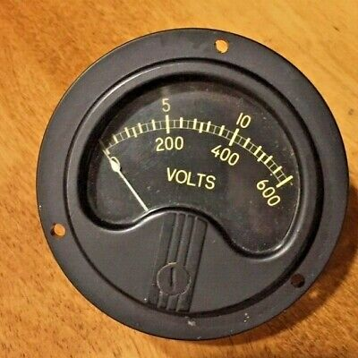 Westinghouse Instruments Ox-33 Meter 0-600 Volts Nos
