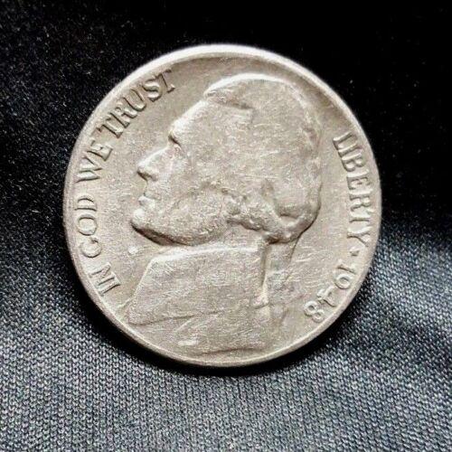 1948 S Jefferson Nickel, Circulated, Nice, Low Mintage of 11.3 Mil, FREE SHIP