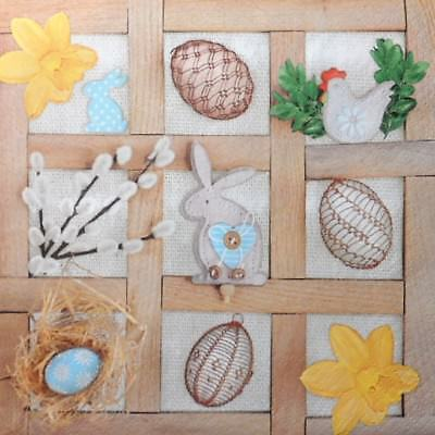 4 x Single Paper Napkins  Easter Collage Frame  Decoupage Craft 209